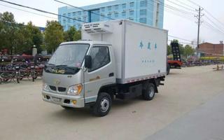 唐骏双燃料冷藏车图片