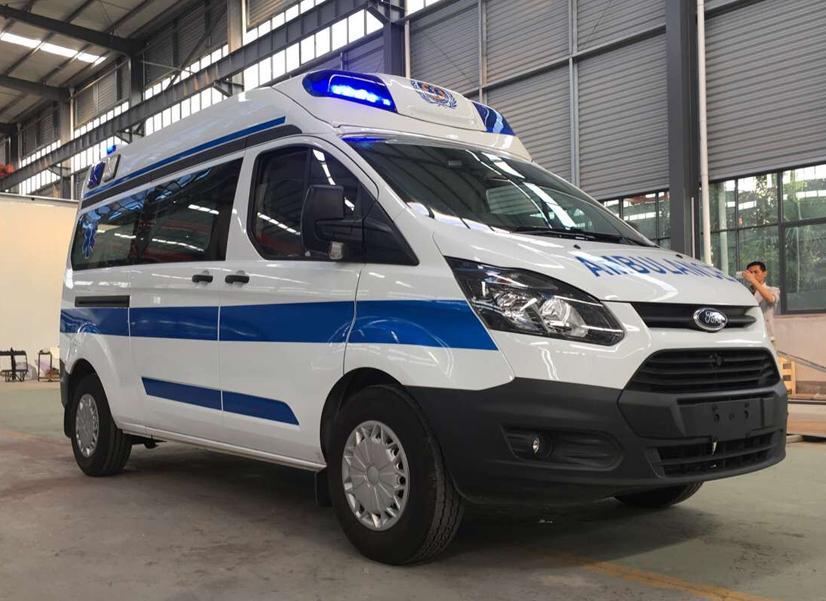 江铃福特新全顺v362米高蓝监顶护型救护车