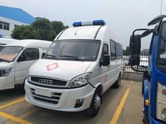 依維柯客車版救護車成功發車到博白縣