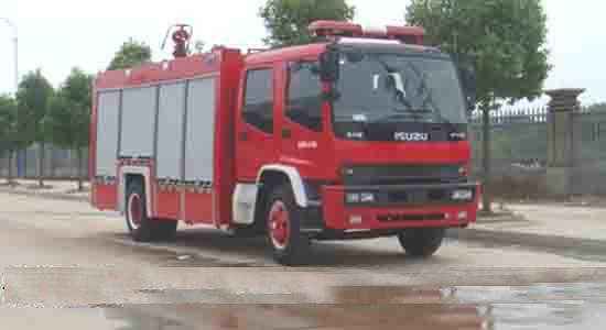五十铃单桥6吨水罐(泡沫)消防车图片