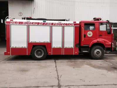 重汽5吨水罐(泡沫)消防车图片