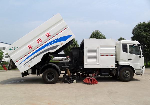 东风天锦8吨洗扫车图片