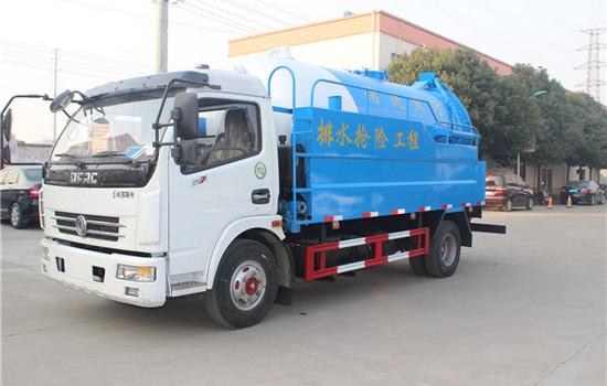 D7东风多利卡8吨清洗吸污车图片
