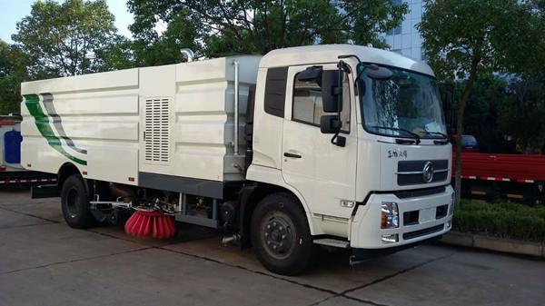 东风天锦16吨洗扫车图片