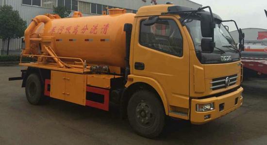 东风12吨清洗分离吸污车图片