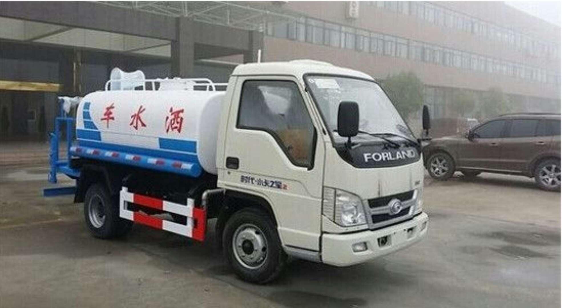 福田2吨蓝牌洒水车图片