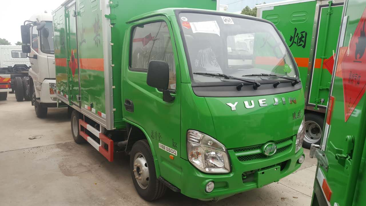 跃进柴油版3.3米易燃气体厢式运输车