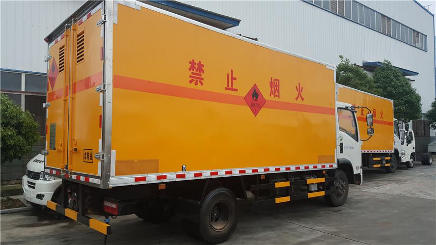 东风大多利卡5.13米易燃气体厢式运输车_高清图片