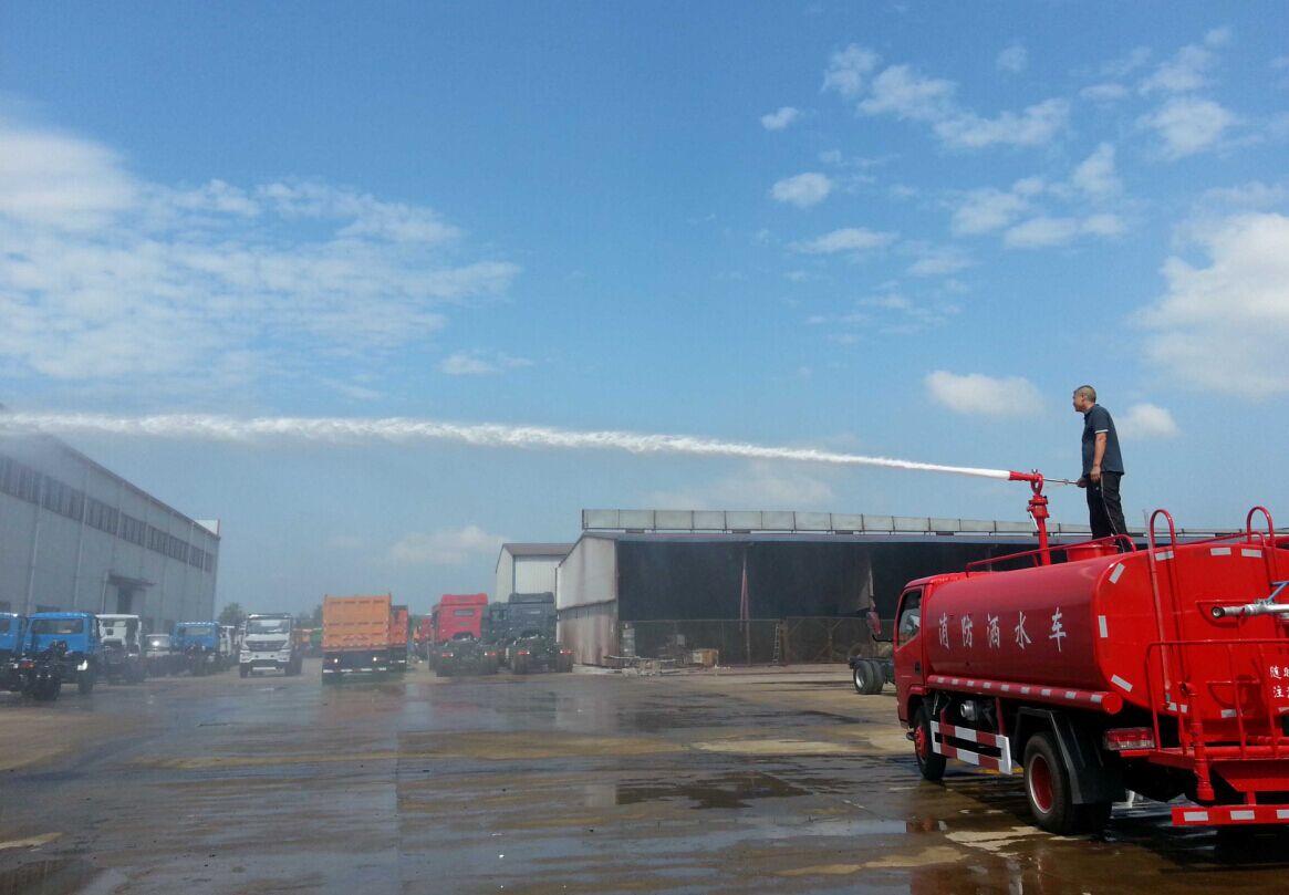 东风5吨消防洒水车图片