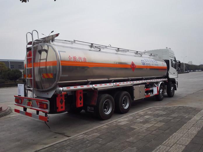 东风天龙铝合金油罐车准备回家啦4!