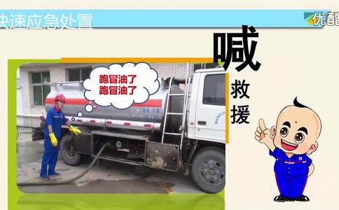 油罐车漏油PPT视频