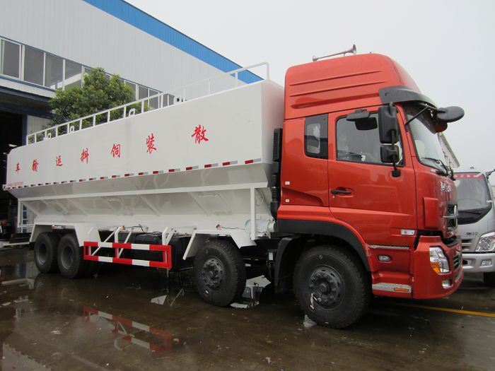 东风天龙20吨散装饲料车图片