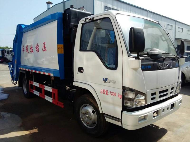 庆铃压缩式垃圾车(国五5方)