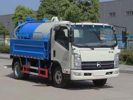 凯马清水1.5吨污水2吨蓝牌清洗吸污车