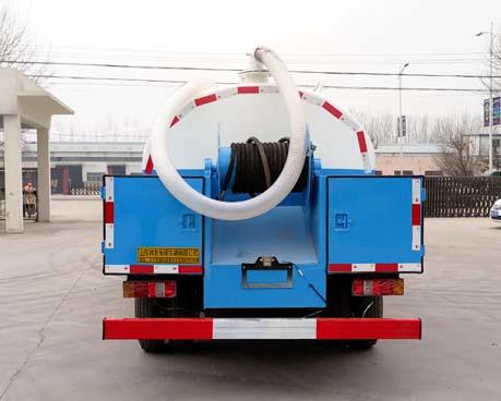 时风清水1.5吨污水2吨蓝牌清洗吸污车图片