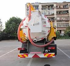 天锦清水3吨污水8吨清洗吸污车图片