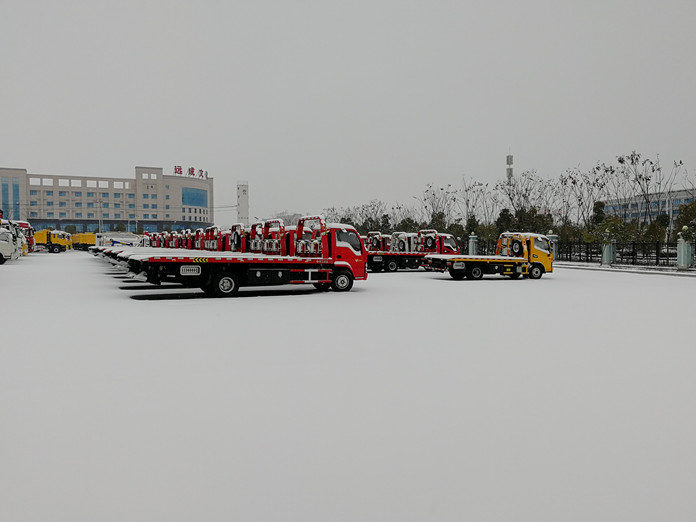 厦工楚胜雪天大量供应各种清障车4