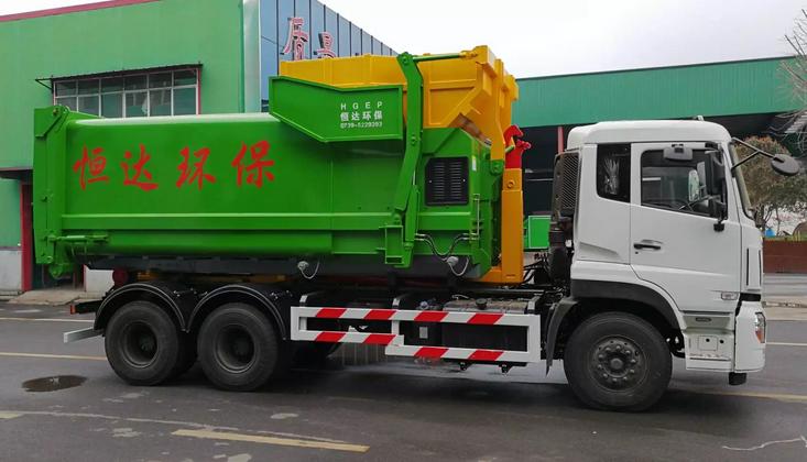东风天龙勾臂垃圾车