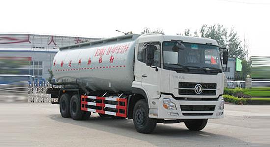 东风天龙后双桥28.8吨粉粒物料运输车