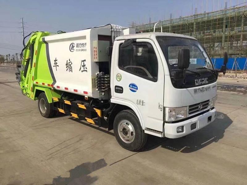 东风多利卡压缩式垃圾车(国五5方)