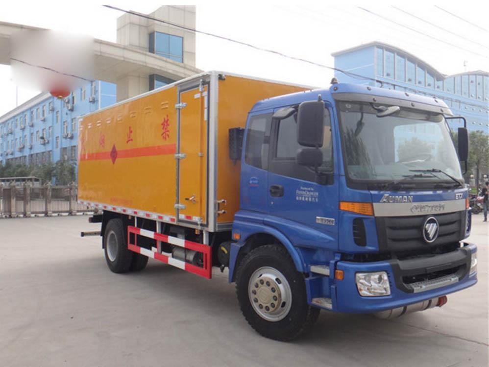 欧马可易燃液体厢式运输车图片