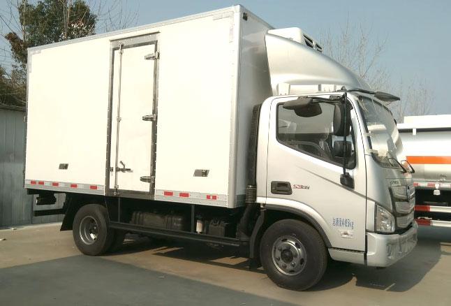 福田欧马可s385冷藏车视频
