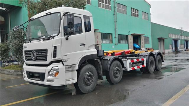 东风天龙30吨勾臂式垃圾车图片