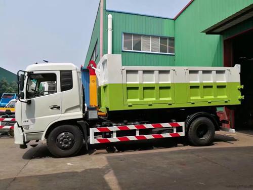 东风天锦20吨勾臂垃圾车图片