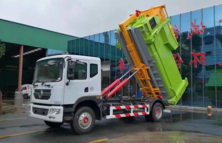 东风多利卡16吨勾臂垃圾车