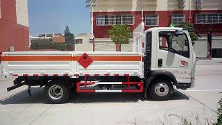 重汽豪沃4米1气瓶运输车(蓝牌)图片