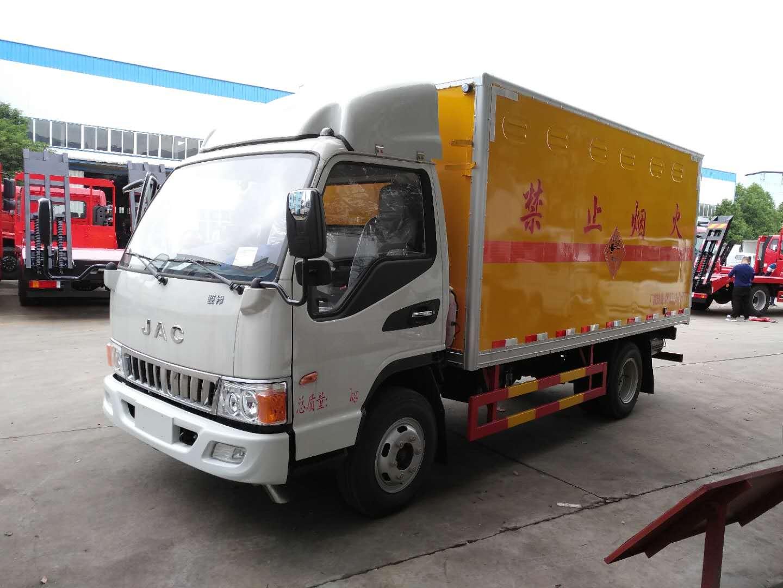 江淮4.2米爆破器材运输车黄牌