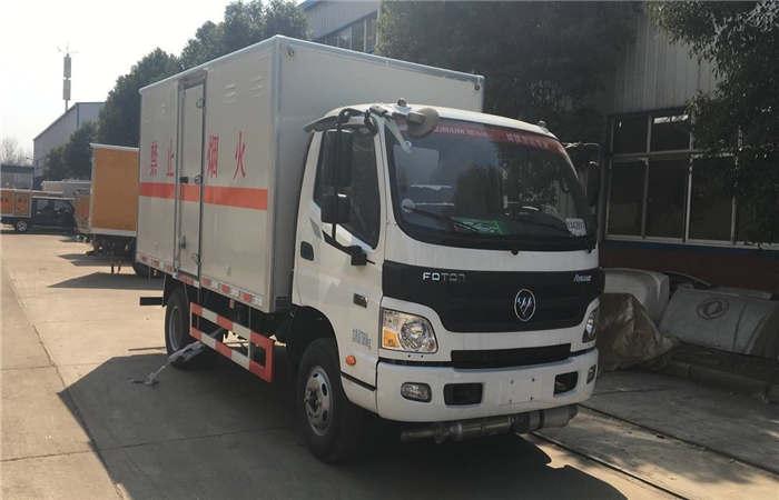 福田欧马可4.1米气瓶厢式运输车