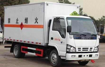 五十铃4.2米易燃气体厢式车