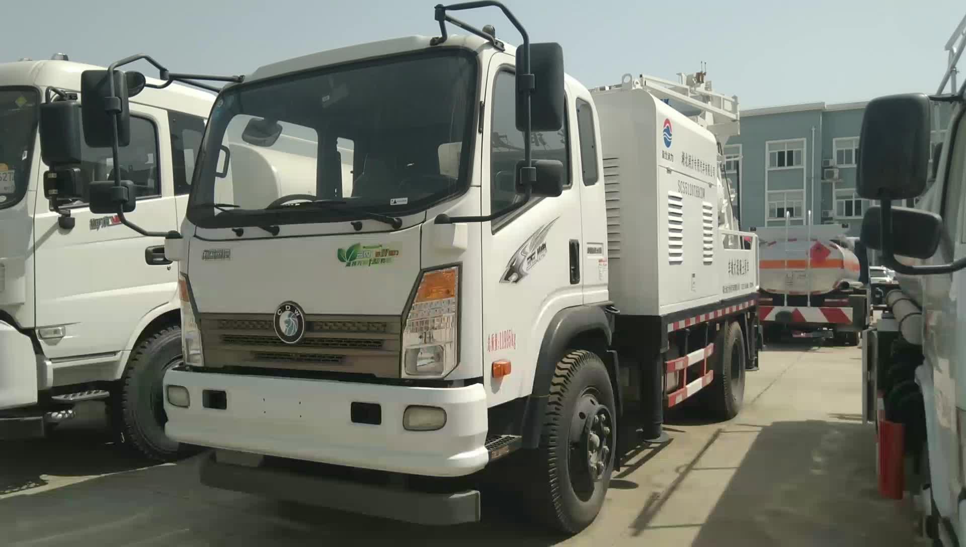 重汽车载式混凝土泵车视频