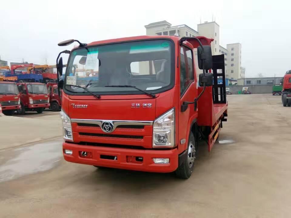 三环创客12吨挖机平板运输车图片