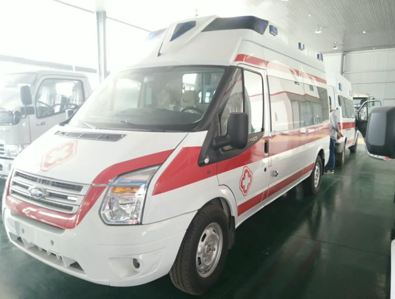 江铃福特V348长轴高顶监护型救护车视频