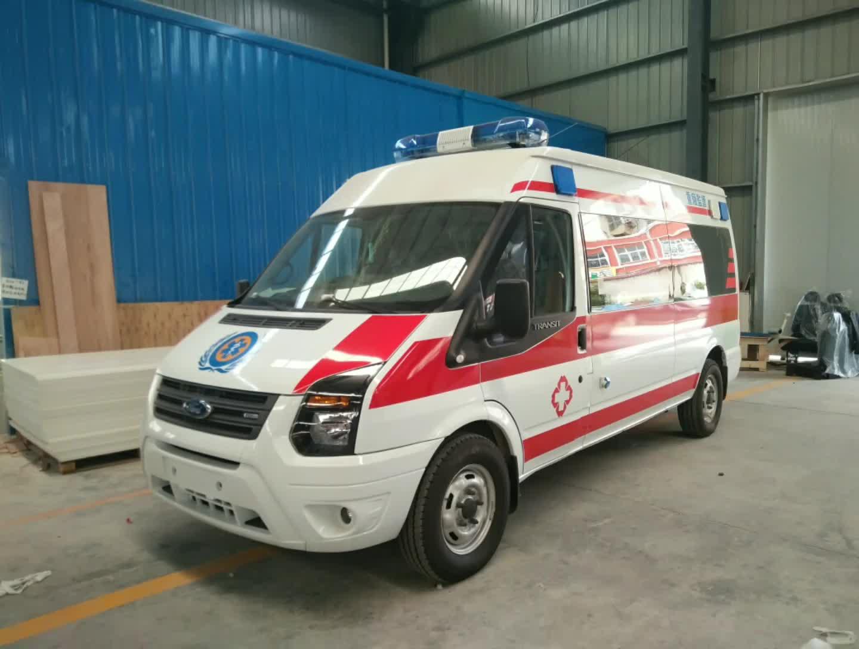 江铃福特全顺长轴救护车视频