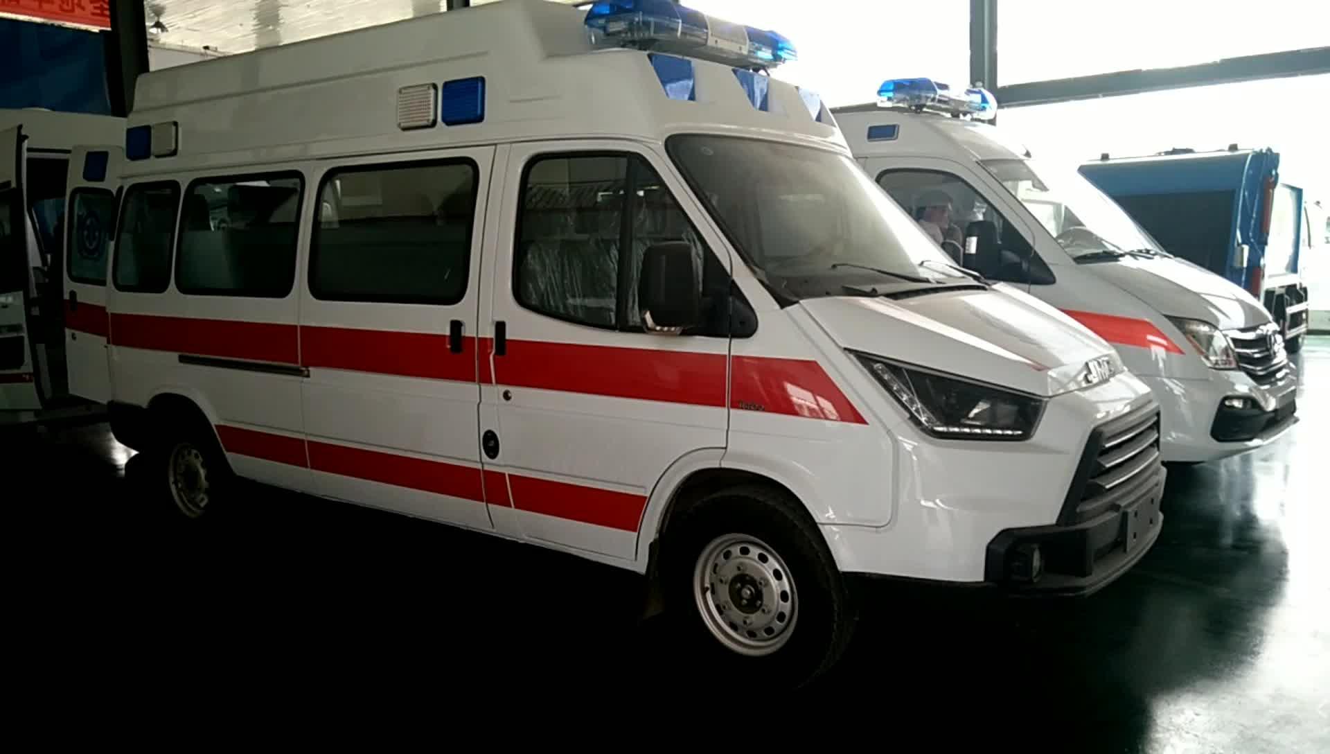 江铃特顺长轴救护车视频