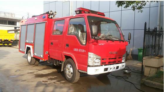 东风2吨消防车洒水车