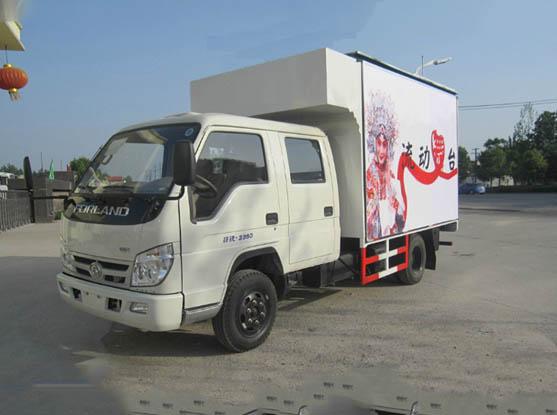 福田双排3.3米舞台车图片