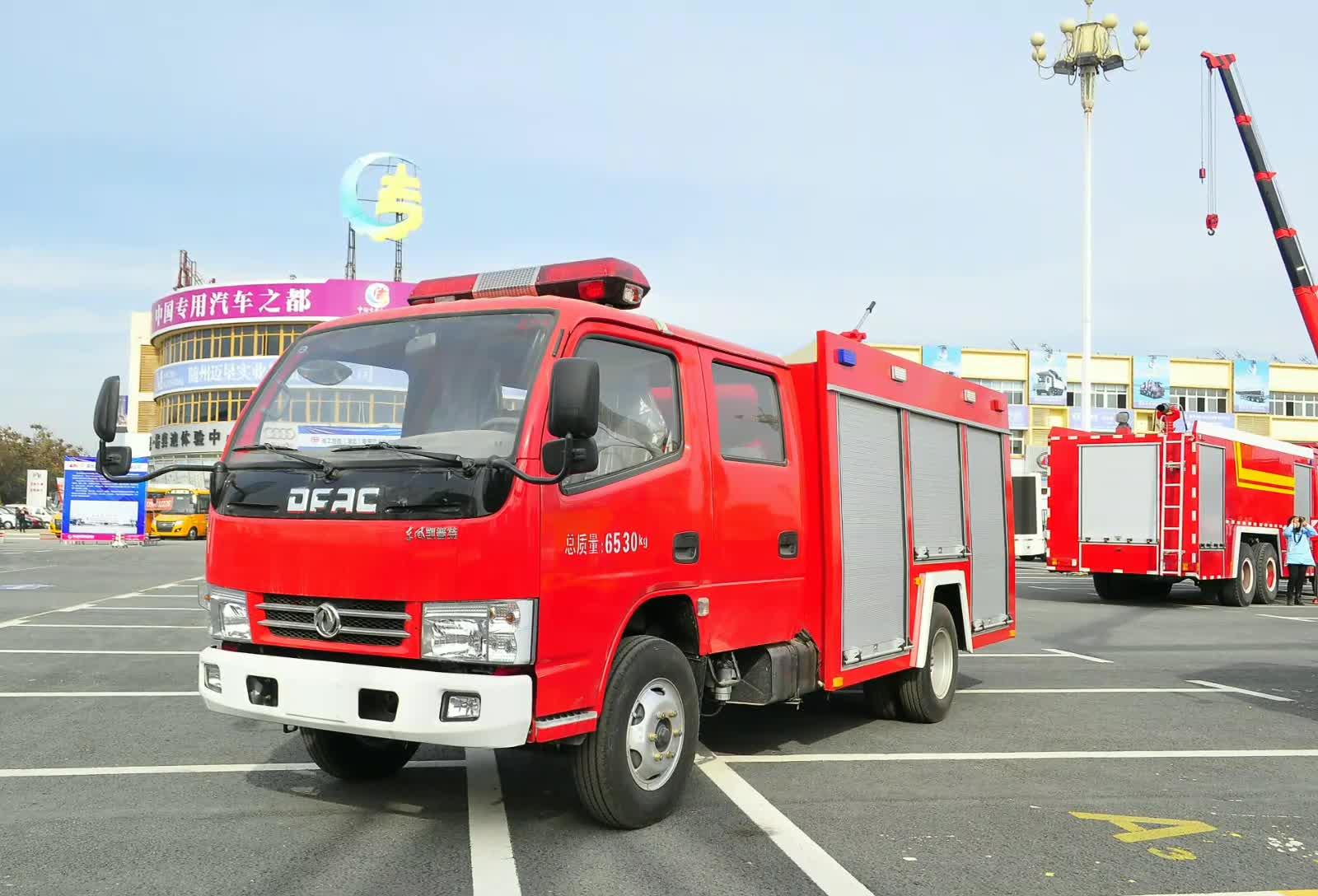 东风凯普特水罐消防车视频