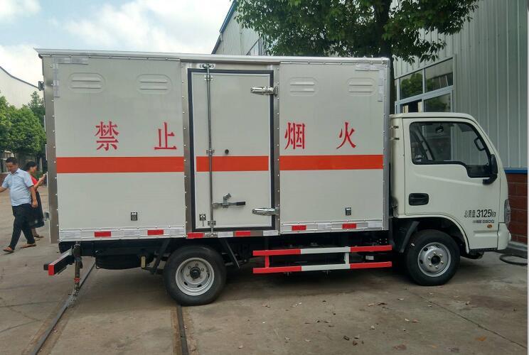 (廂長3.27米)躍進易燃氣體廂式運輸車_高清圖片