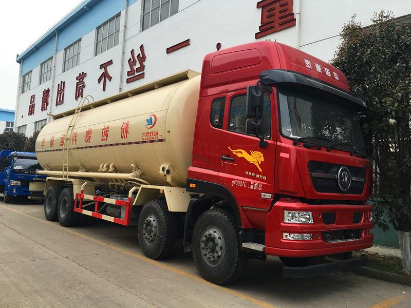 重汽斯太尔40吨粉粒物料运输车图片