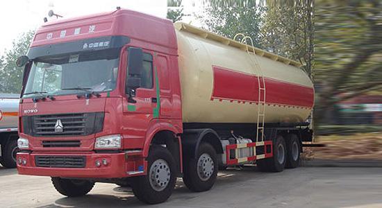 斯太尔30粉粒物料运输车