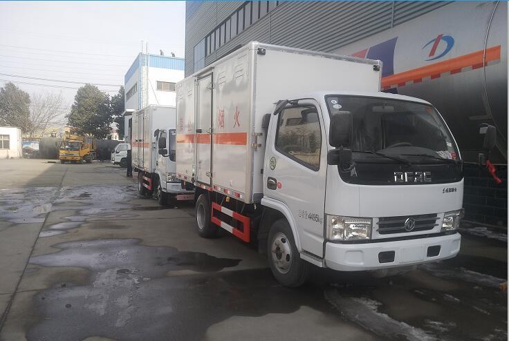 (廂長3.5米)東風D5易燃氣體廂式運輸車_高清圖片