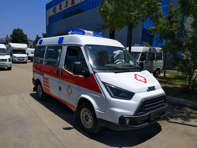 特顺柴油板短轴中顶监护型救护车