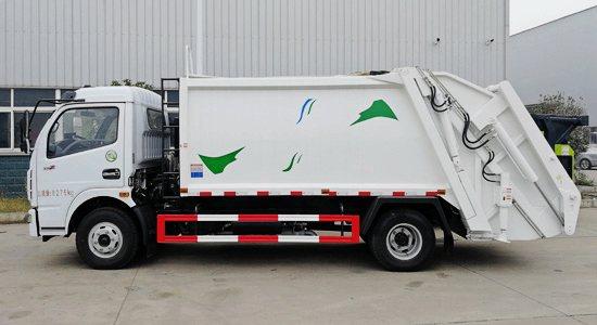东风多利卡8吨压缩式垃圾车图片