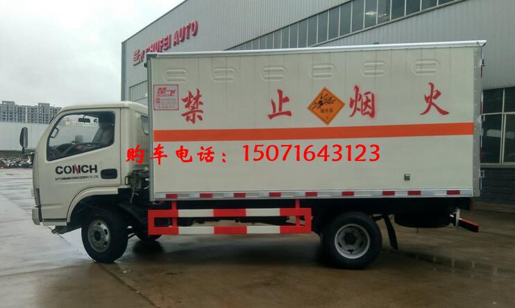 (廂長4.12米)東風D6腐蝕性物品廂式運輸車_高清圖片