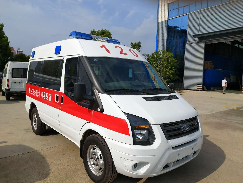 江铃福特V348短轴中顶监护型救护车厂家直销