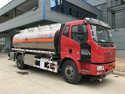 解放J6 15吨铝合金加油车